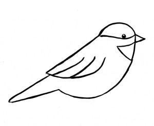bird drawing simple birds flying getdrawings