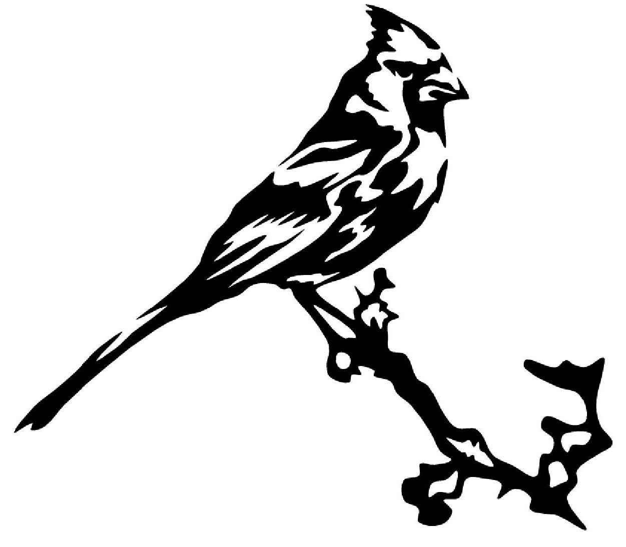 Bird On Branch Drawing At Getdrawings