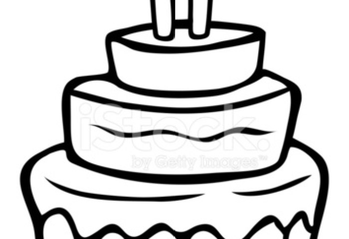 Birthday Cake Drawing Cartoon At Getdrawingscom Free For Personal