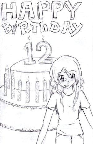 birthday card drawing happy drawings getdrawings anime deviantart
