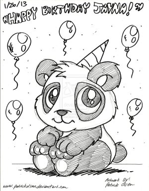 birthday drawing drawings happy cards panda sketch card easy coloring paintingvalley sketches drawn hand pages getdrawings looking explore animals deviantart