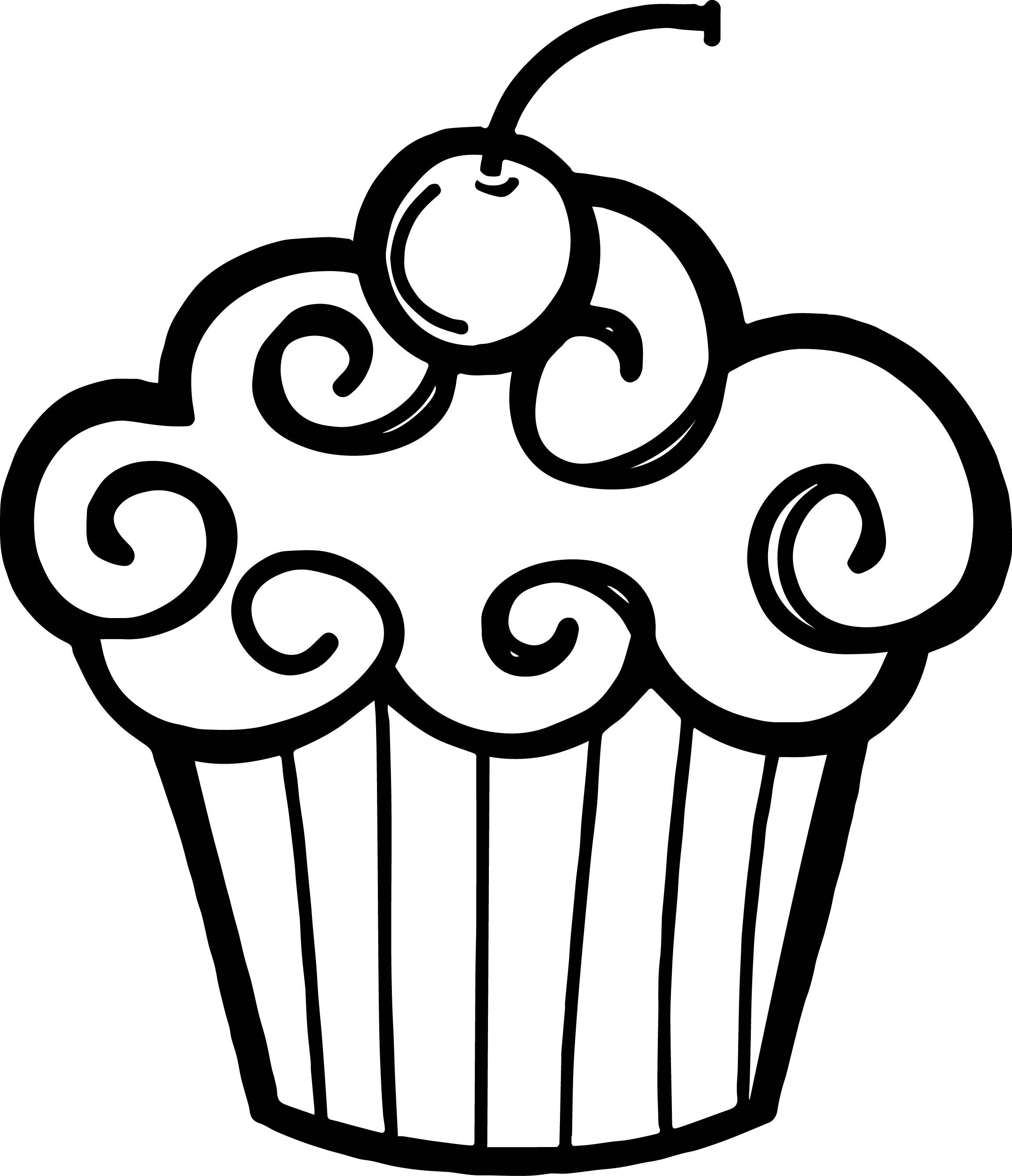 Birthday Cupcake Drawing At Getdrawings