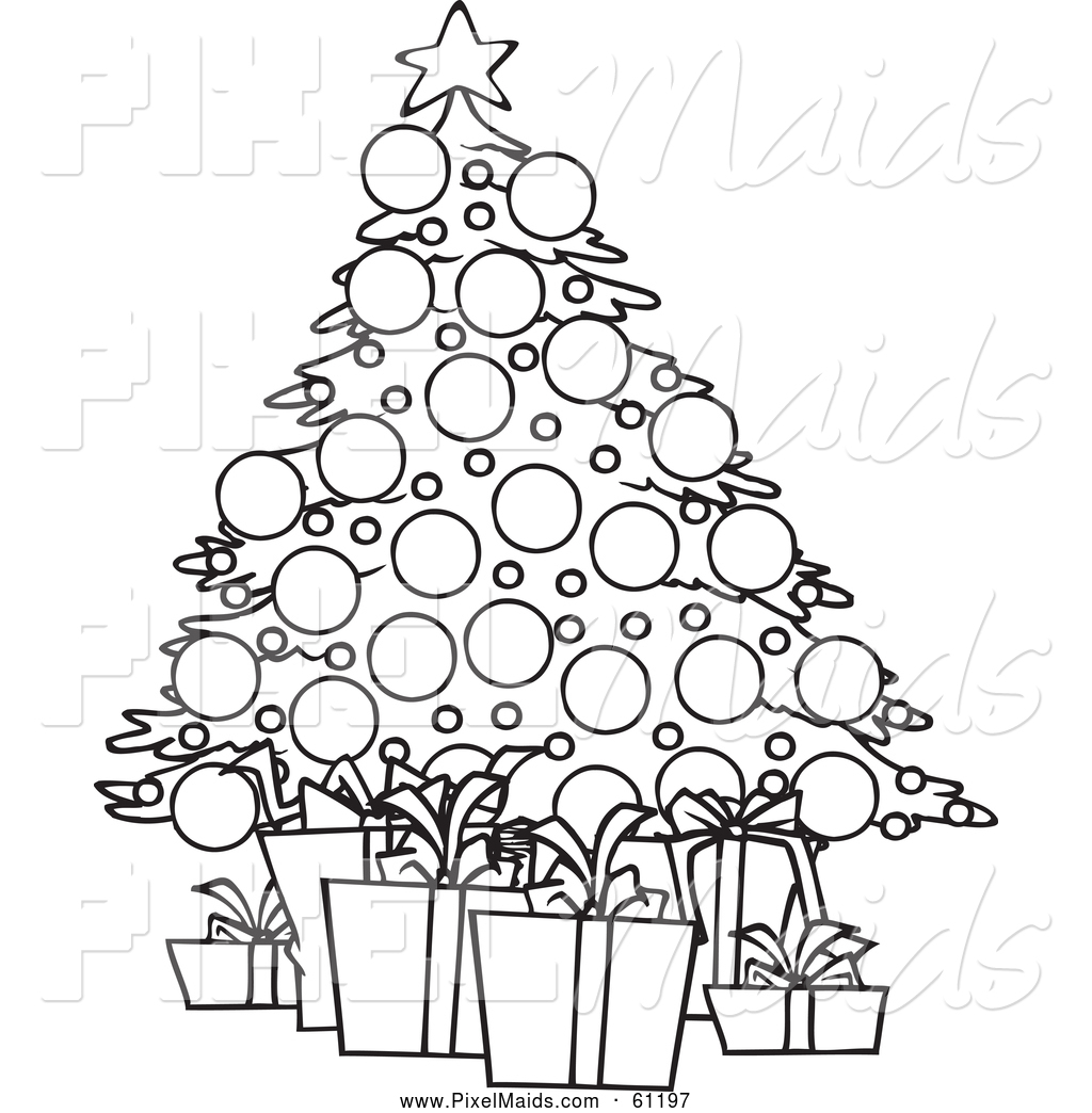 Christmas Decorations Images Clip Art Black And White
