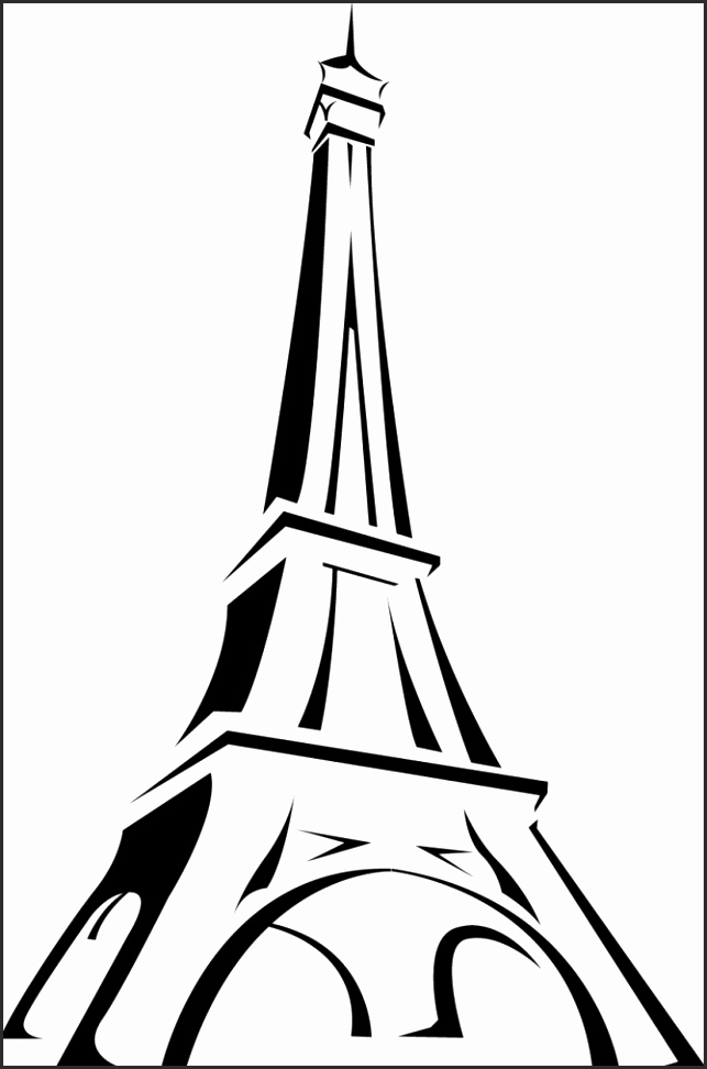 Black And White Eiffel Tower Drawing at GetDrawings.com