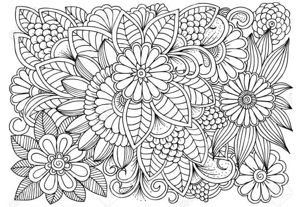 Black And White Flowers Drawing Free Personal