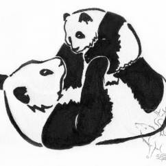 Panda Bear Diagram What Is The Orbital For Nitrogen Black And White Drawing At Getdrawings Free