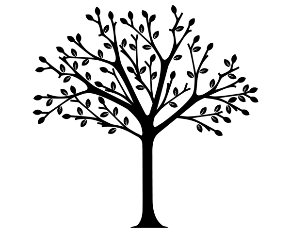 Intertwined Trees Clip Art
