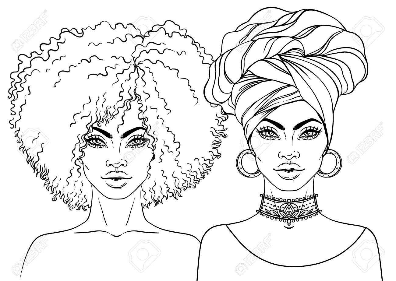 Black Girl Afro Drawing At Getdrawings