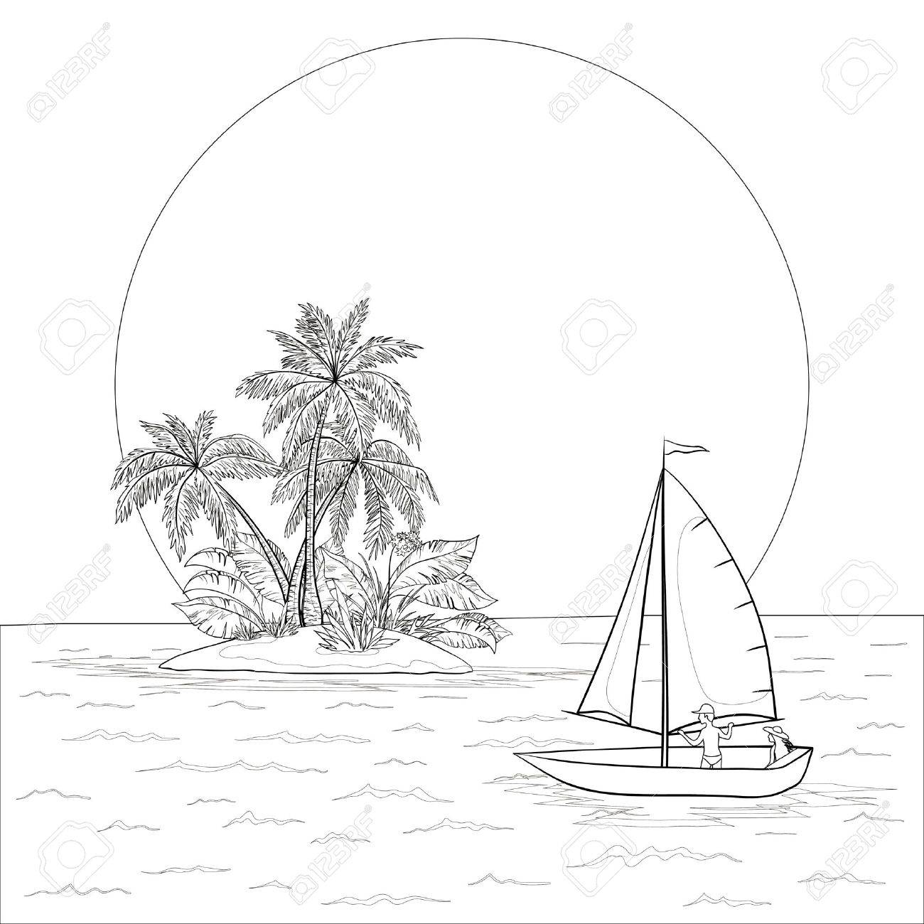 Boat In Water Drawing At Getdrawings