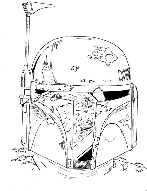 boba fett helmet drawing at getdrawings  free download