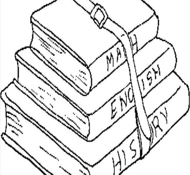 Stacked Books Drawing At Getdrawings Com
