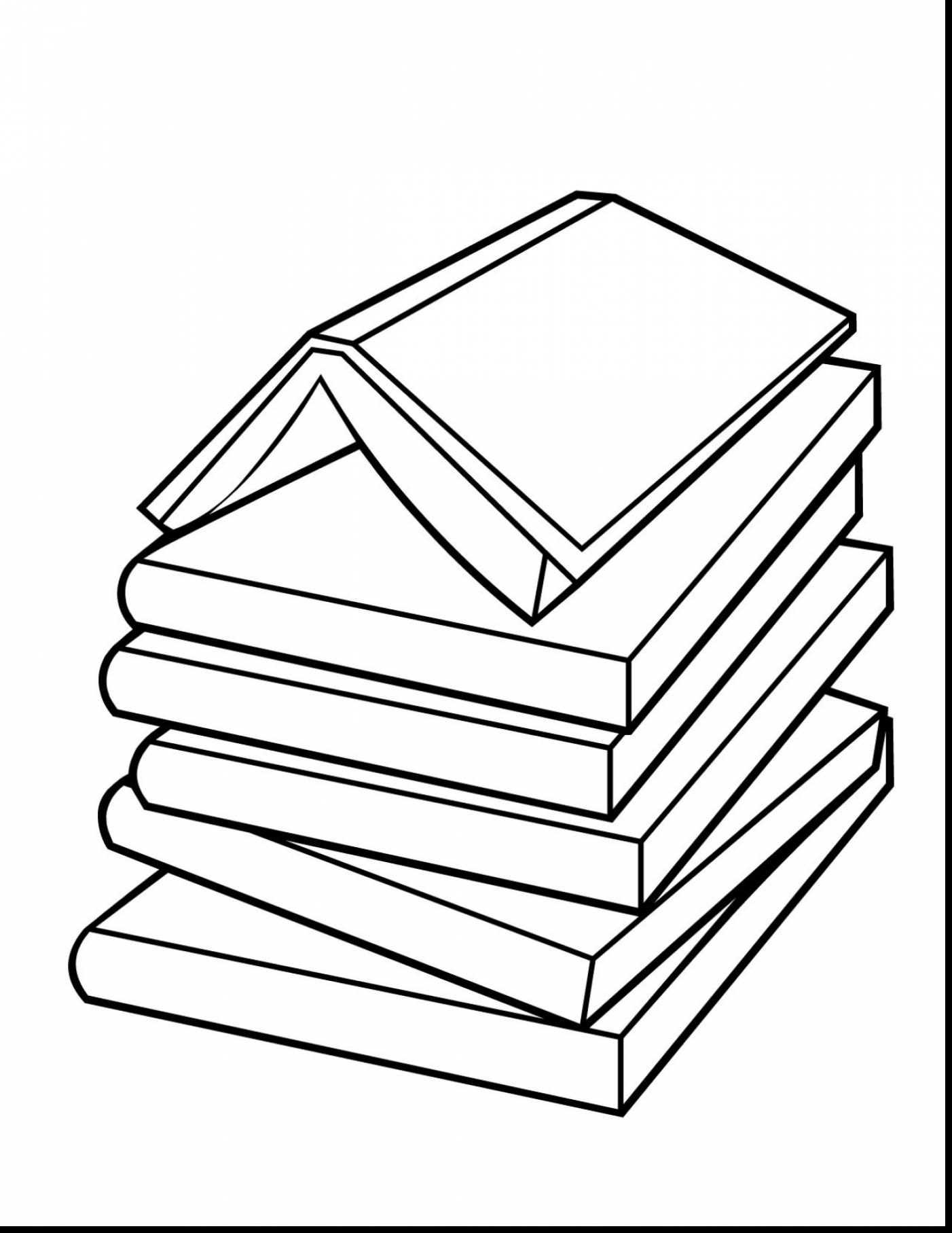 Book Stack Drawing At Getdrawings