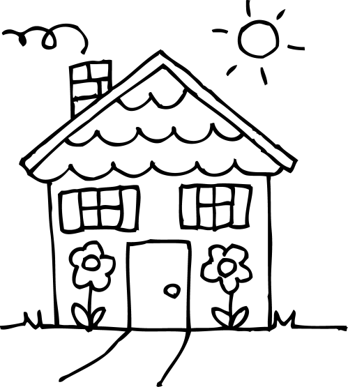 small resolution of 4332x4815 small house clipart black and white