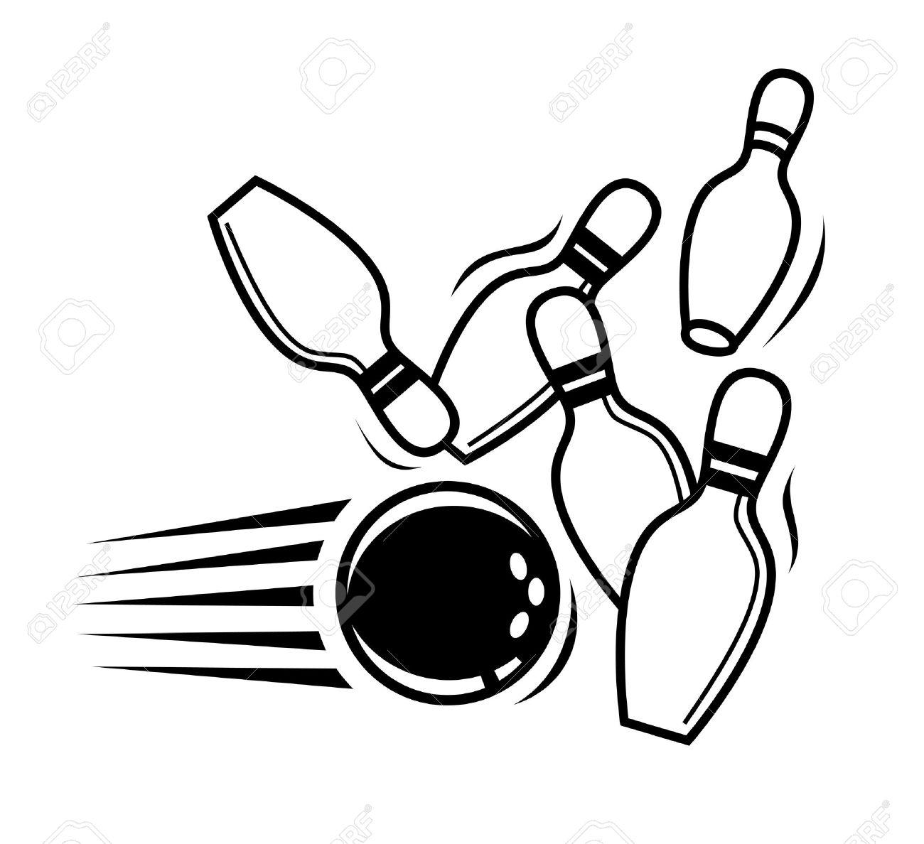 Bowling Pins Drawing At Getdrawings