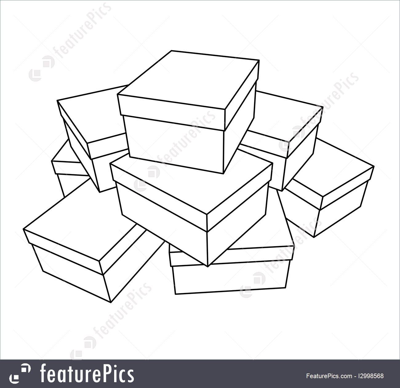 Boxes Drawing At Getdrawings