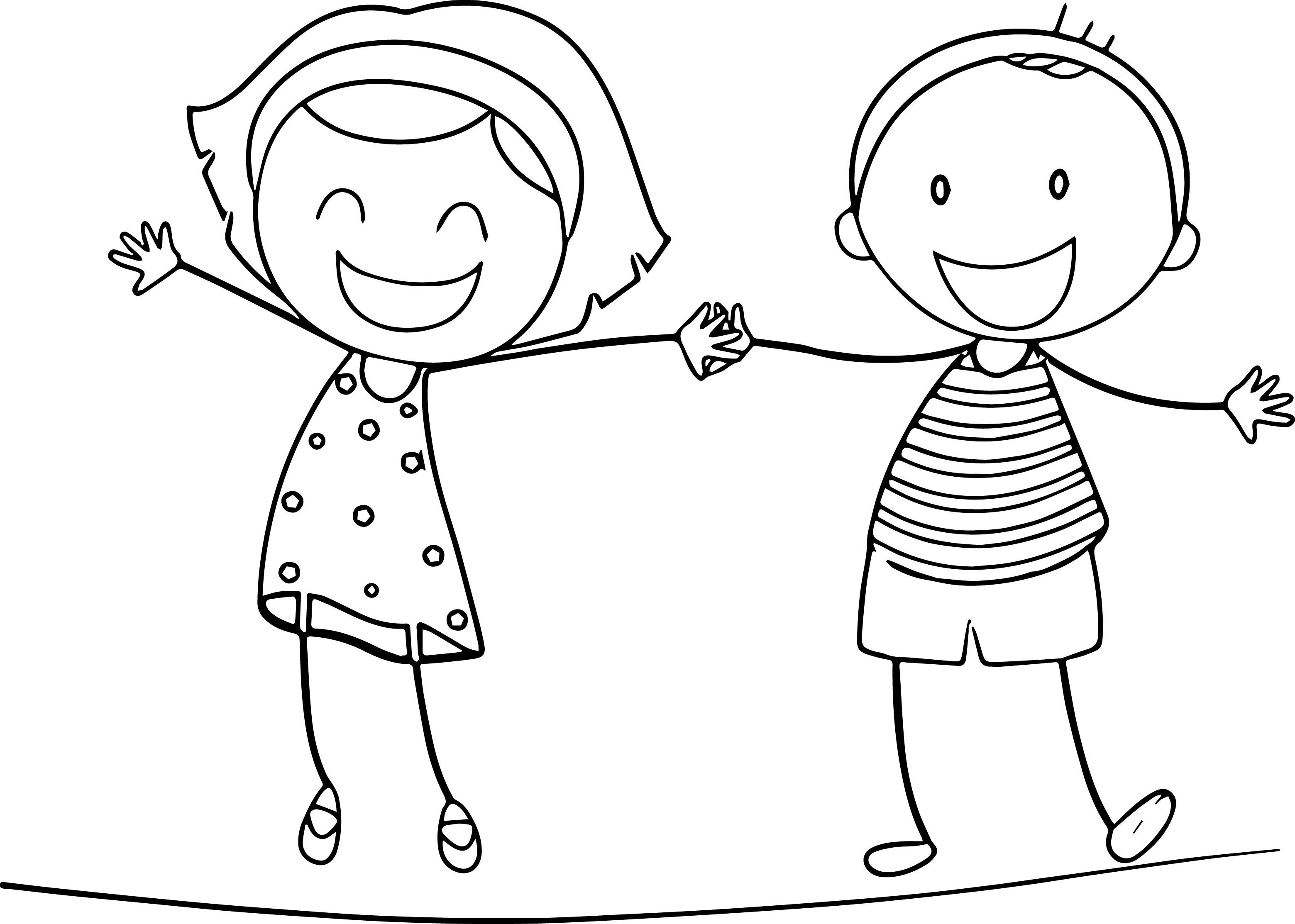 Boy And Girl Cartoon Drawing At Getdrawings