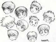 boy hair drawing