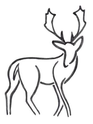drawing deer antlers easy elk reindeer step antler buck draw simple head template drawings basic moose clipartmag getdrawings sketch paintingvalley