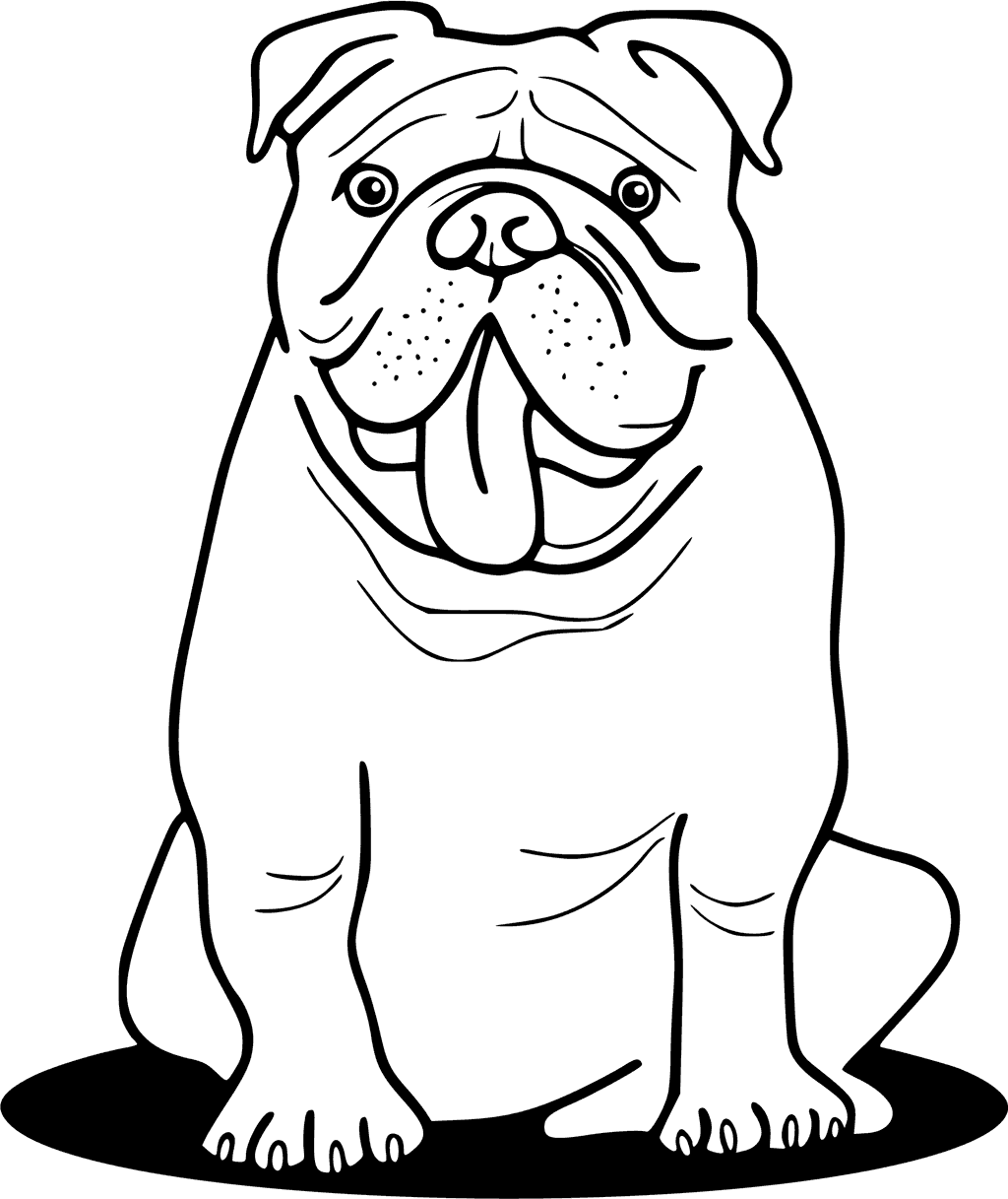 Bulldog Drawing Easy At Getdrawings