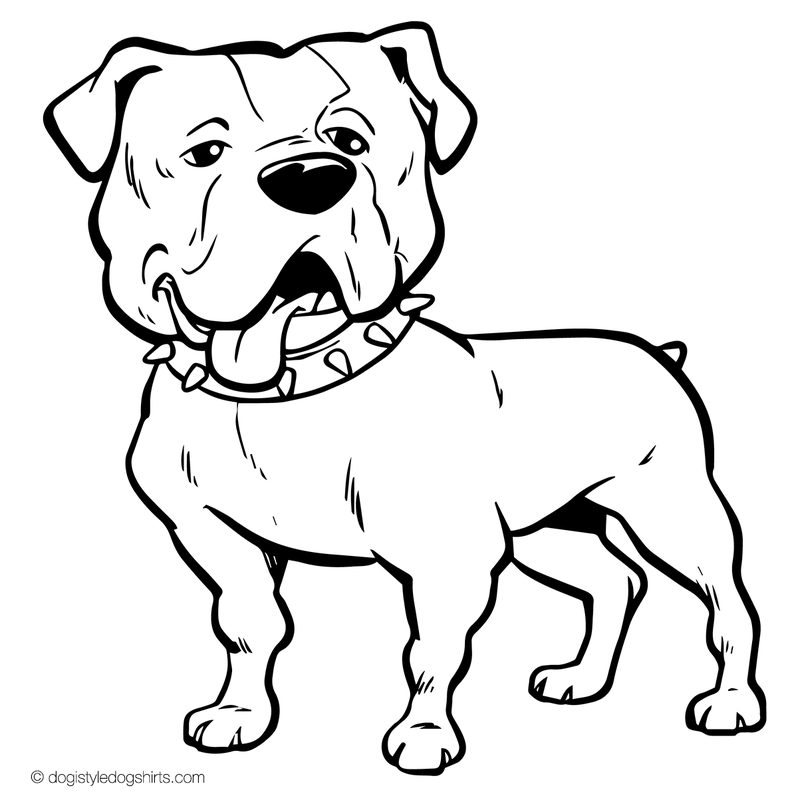 Bulldog Line Drawing At Getdrawings Com
