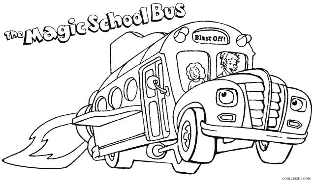Coloring Page School Bus Pages Sheet Free Get This