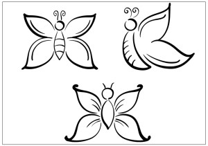 butterfly drawing easy coloring pages butterflies simple printable drawings fun children three draw buzzle butter getdrawings paintingvalley