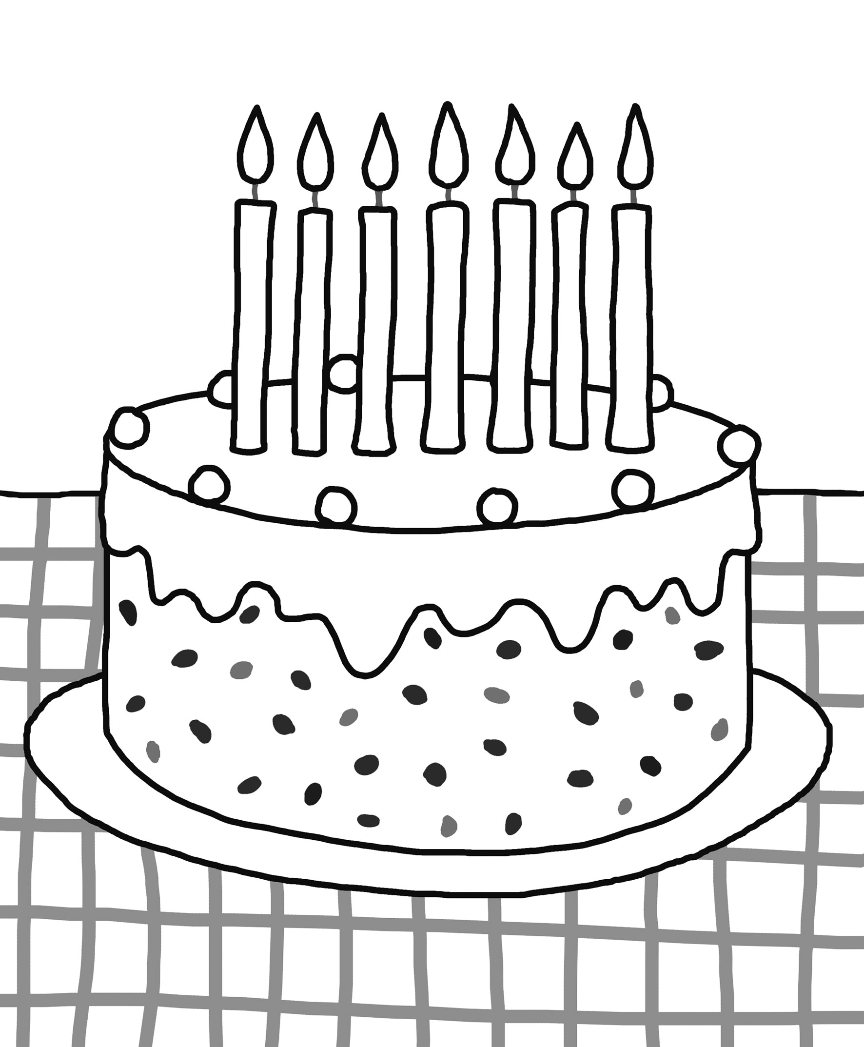 Cake Drawing Template At Getdrawings