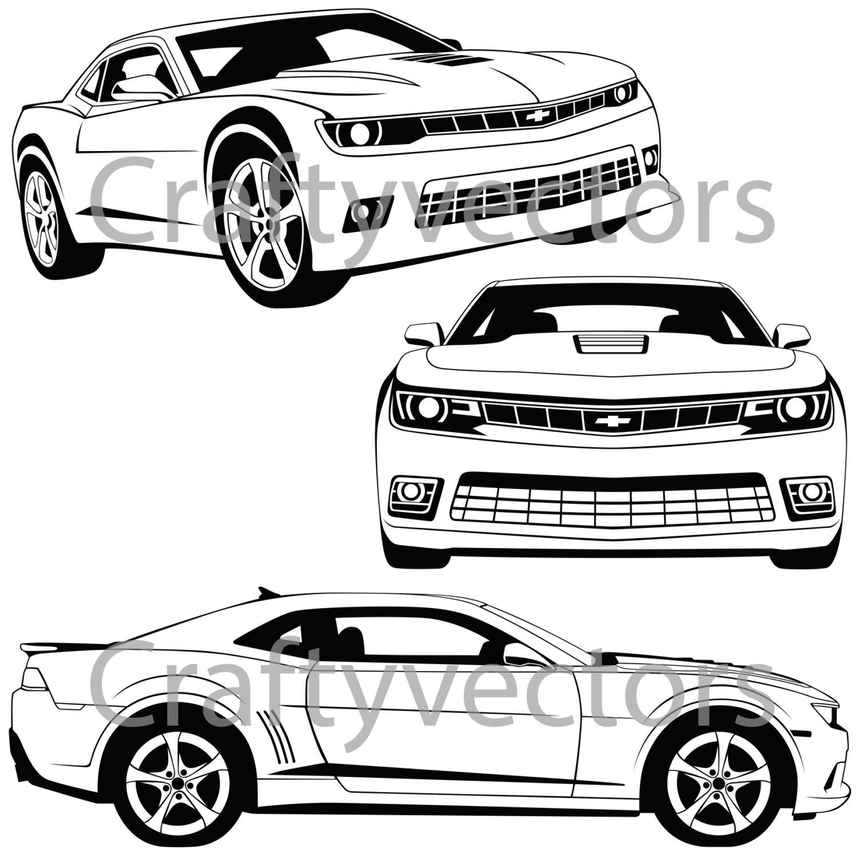 1500x1500 chevrolet camaro 2015 vector file