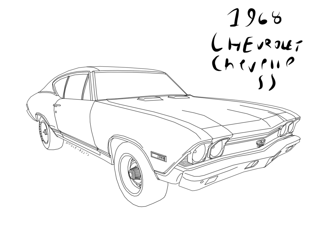 Camaro Ss Drawing At Getdrawings