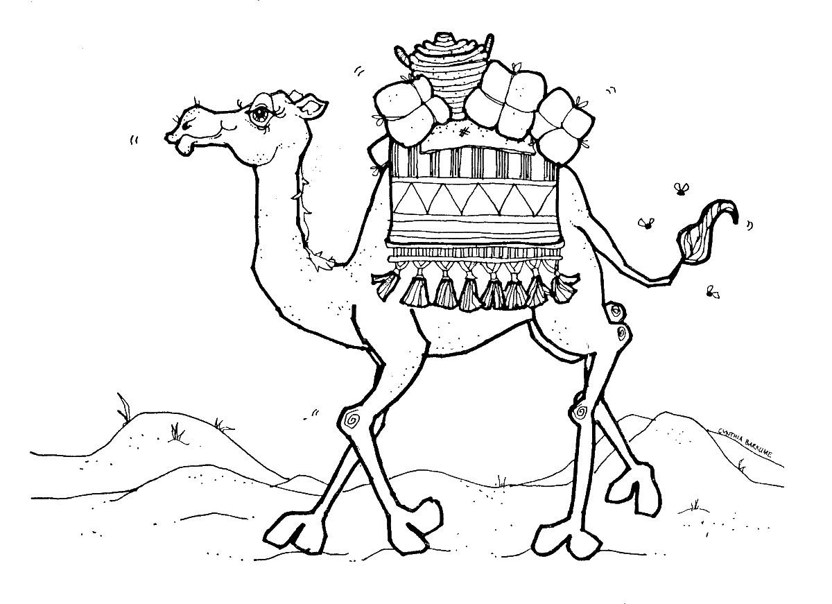 Camel In Desert Drawing At Getdrawings