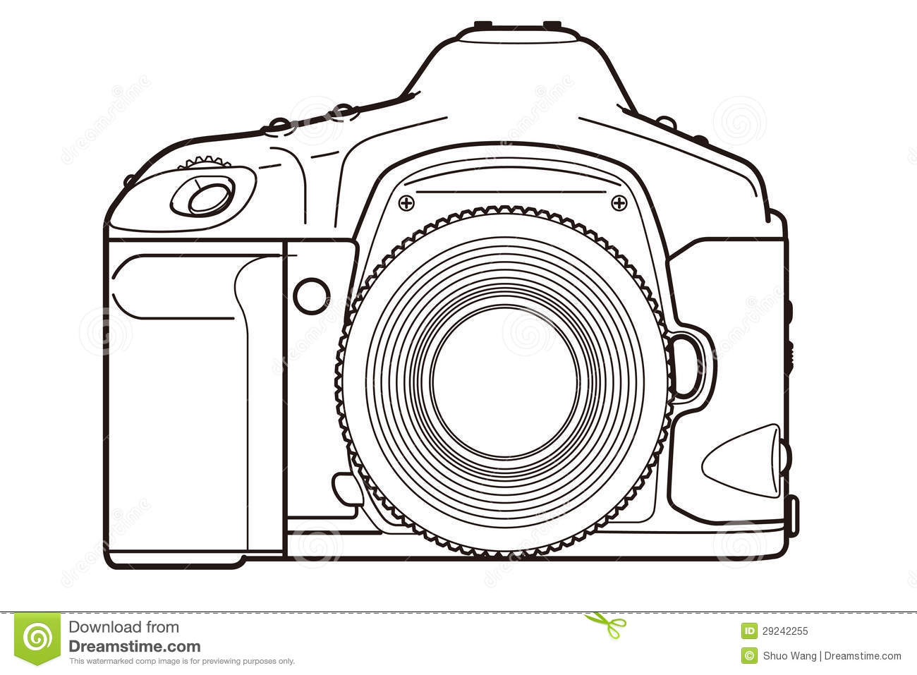 Camera Line Drawing Clip Art At Getdrawings
