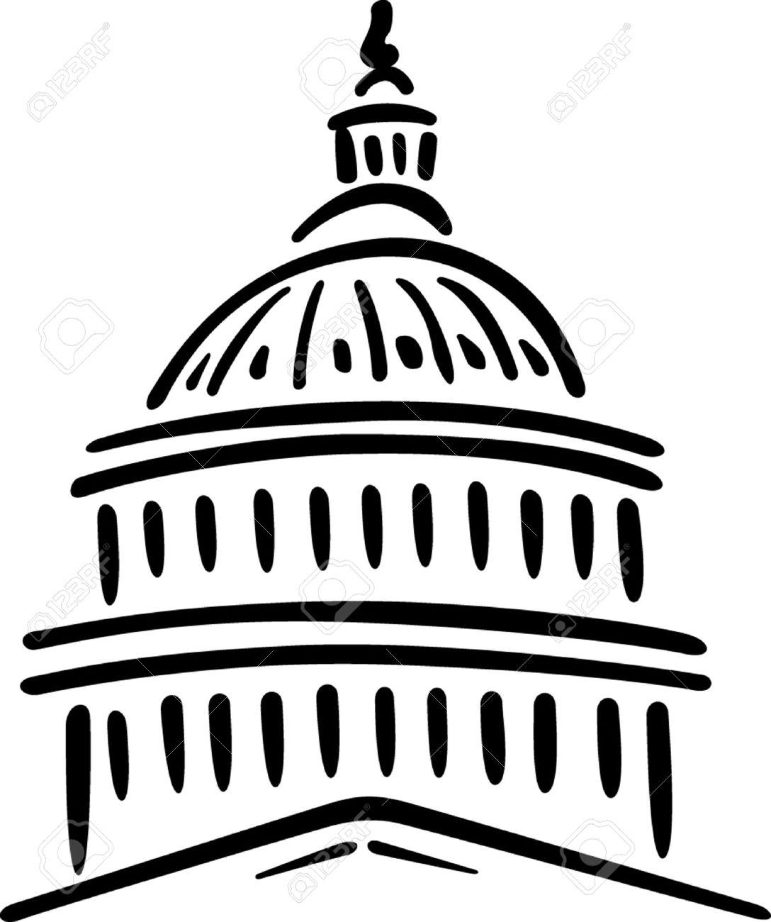 Capitol Building Drawing At Getdrawings