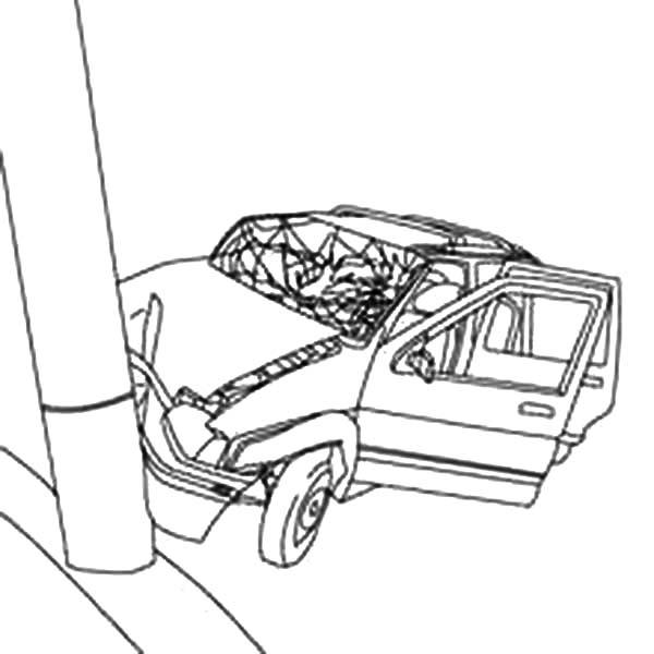 Crashed Car Drawing At Getdrawings Com