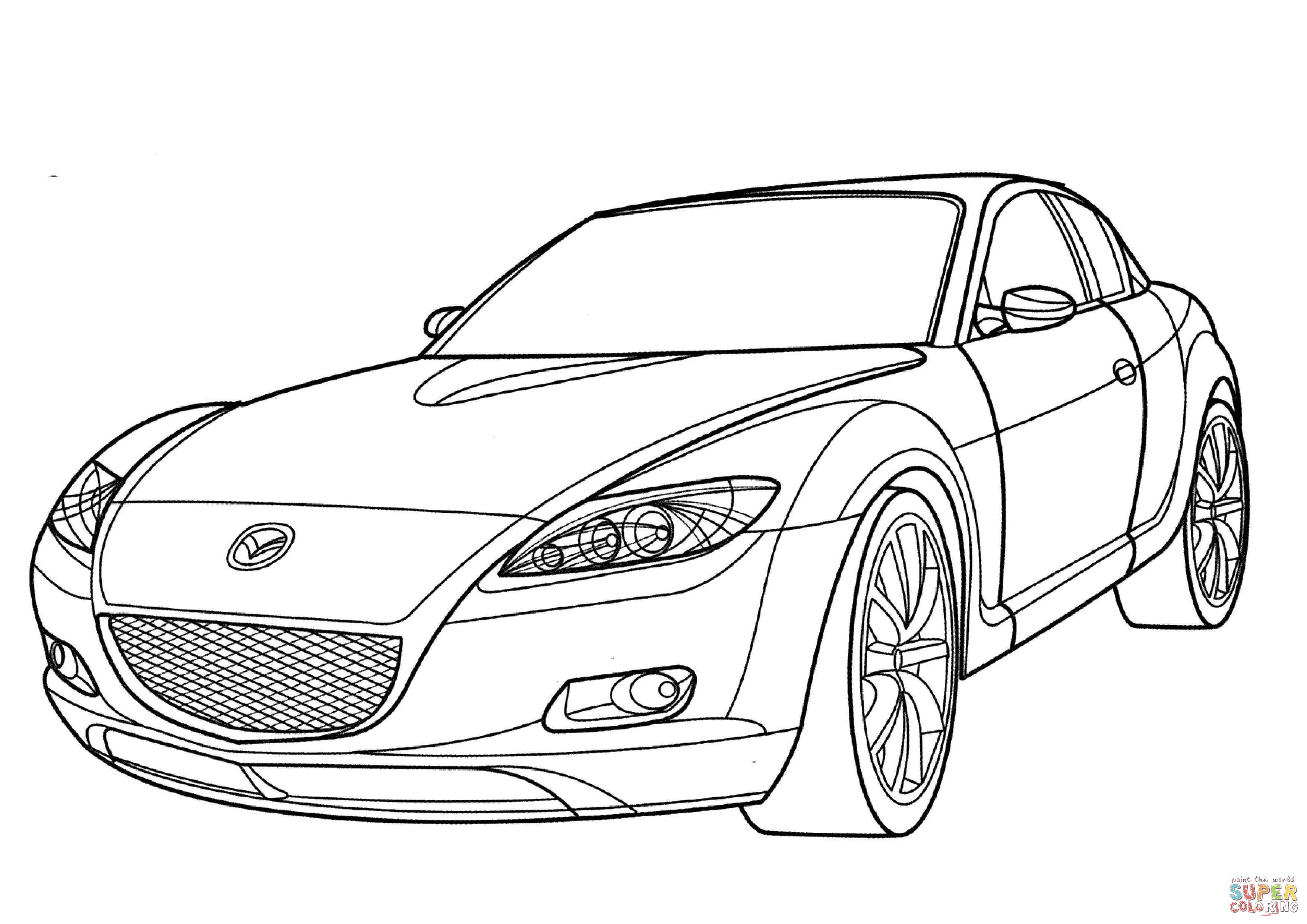 3508x2480 mazda rx 8 coloring page free printable coloring pages
