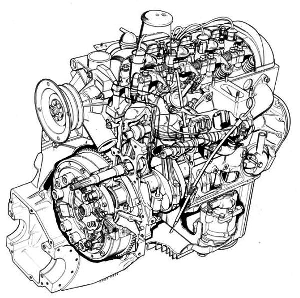 porsche 365 engine diagram