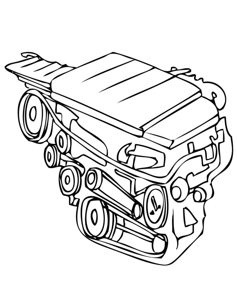 medium resolution of 791x1024 car engine coloring page archives