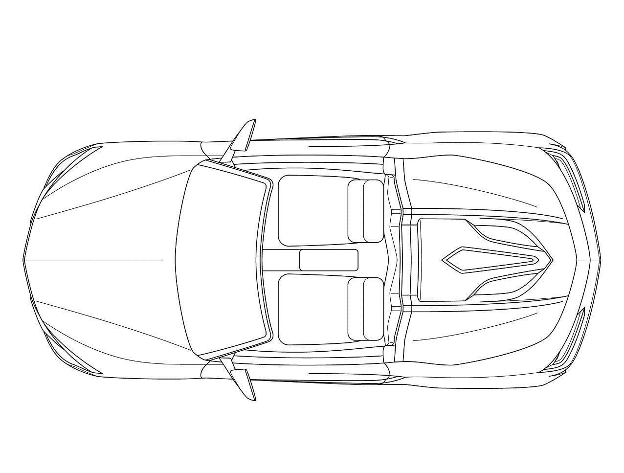 Car Top View Drawing At Getdrawings