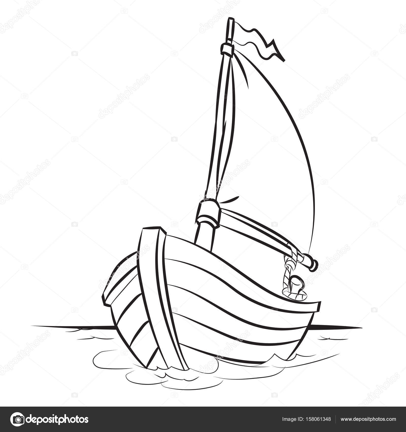 Cartoon Boat Drawing At Getdrawings
