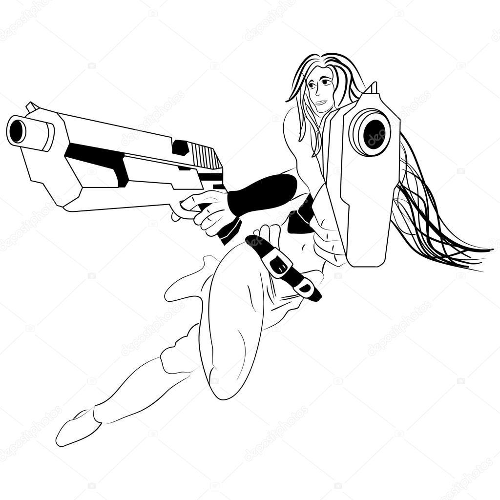 Cartoon Gun Drawing At Getdrawings