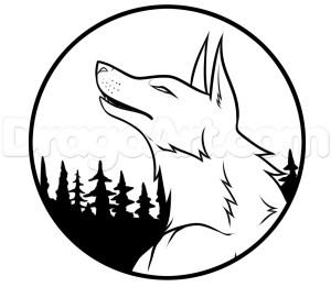 moon draw cartoon wolf drawing step easy drawings stars getdrawings werewolves