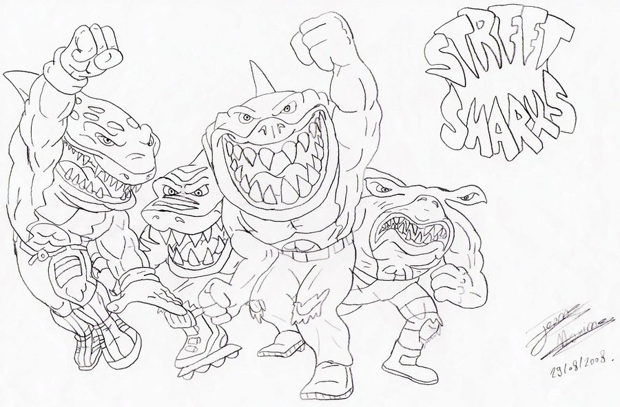 Street Sharks Coloring Pages