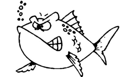 fish cartoon drawing whale angry mouth easy draw cute getdrawings cartoons