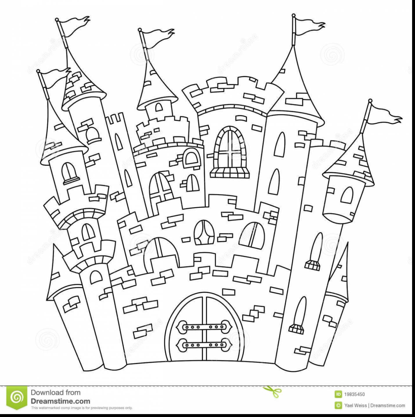 Castle Drawing Outline At Getdrawings