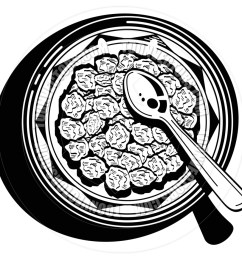 940x940 cartoon cereal bowl vector illustration by clip art guy toon [ 940 x 940 Pixel ]