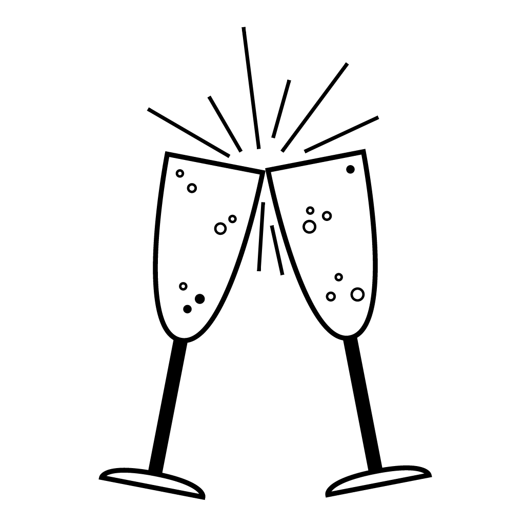 Champagne Glasses Drawing At Getdrawings