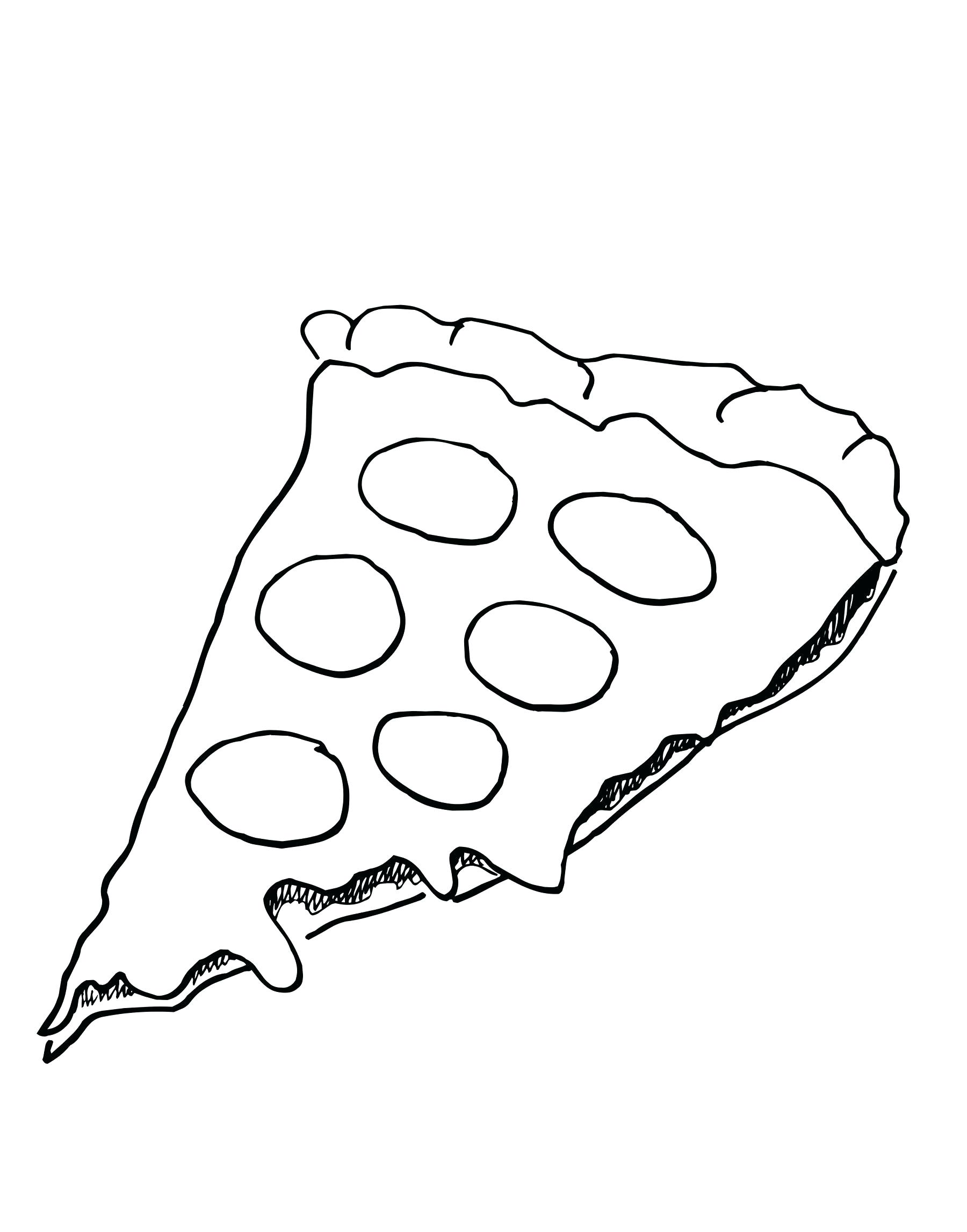 Cheese Pizza Drawing At Getdrawings