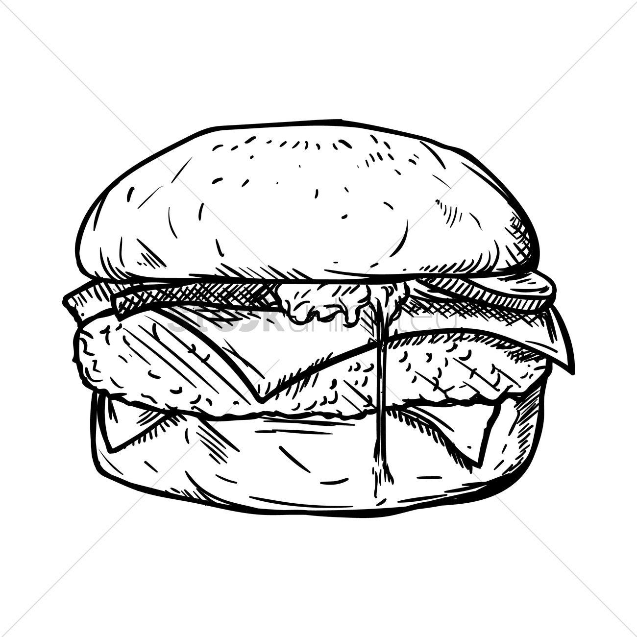 Cheeseburger Drawing At Getdrawings