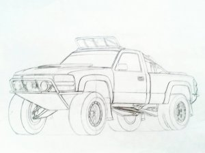 Chevy Silverado Drawing at GetDrawings | Free for