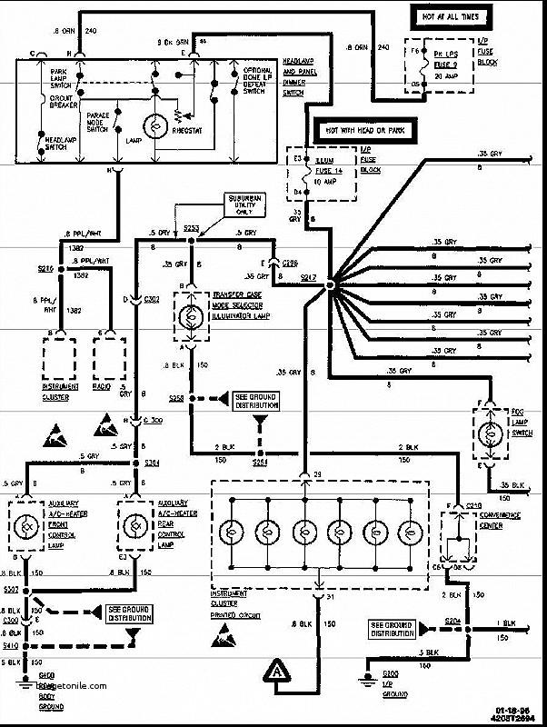 1994 chevy silverado radio wiring harness