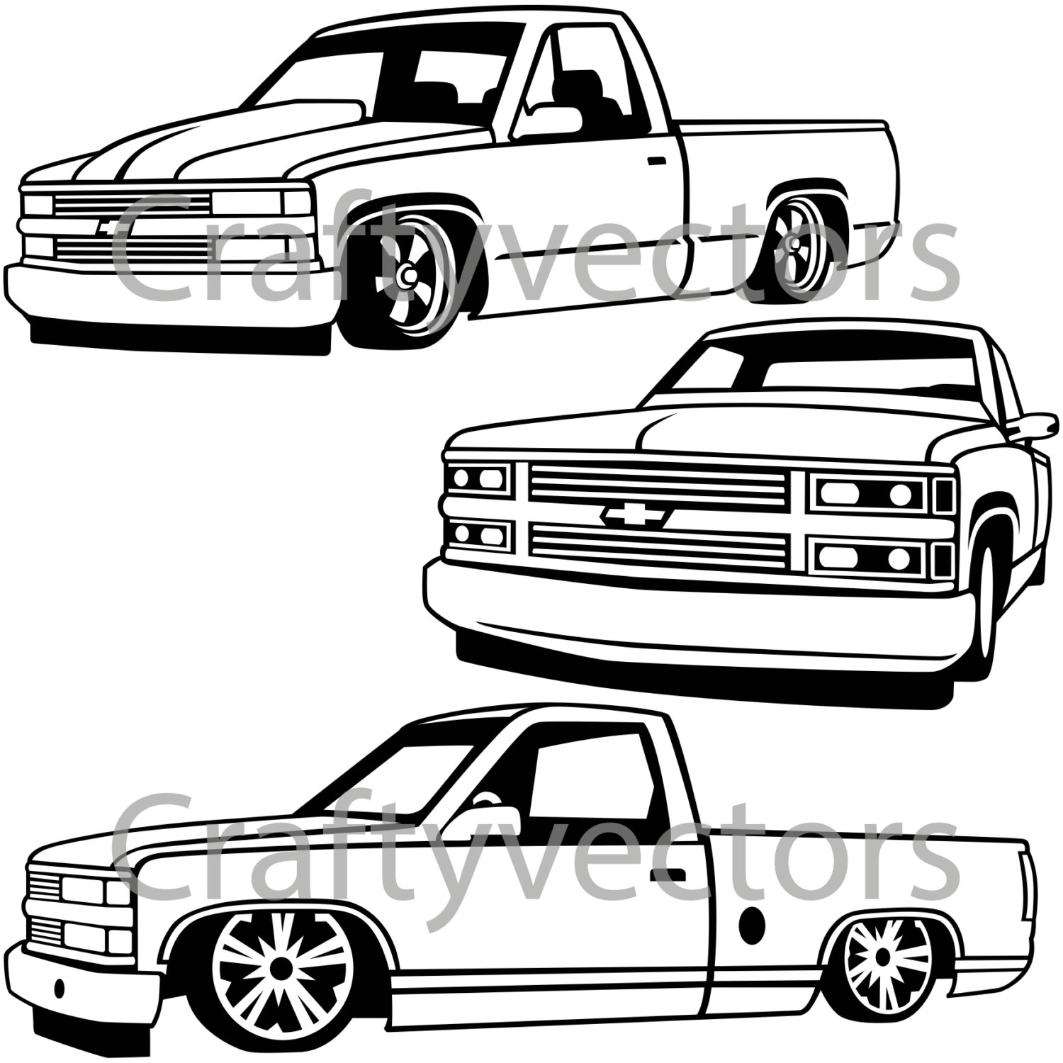1500x1500 chevy lowered custom trucks